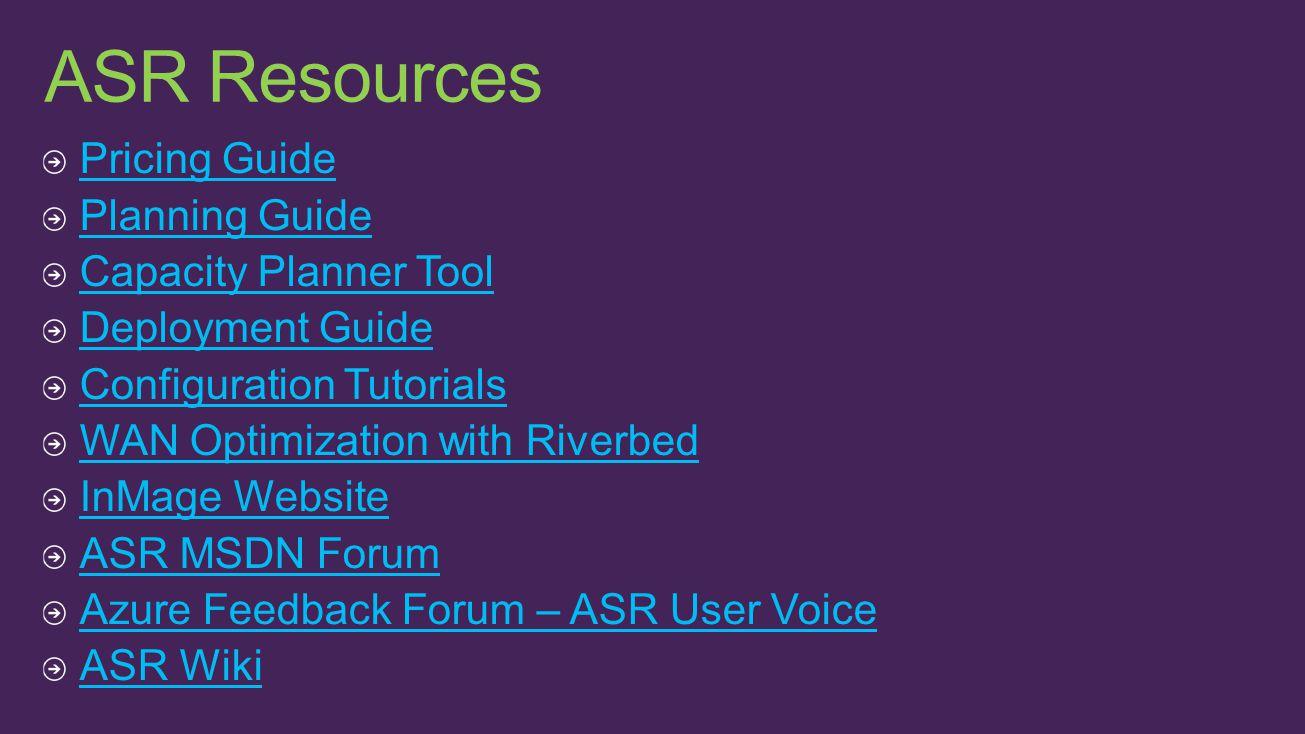 ASR Resources