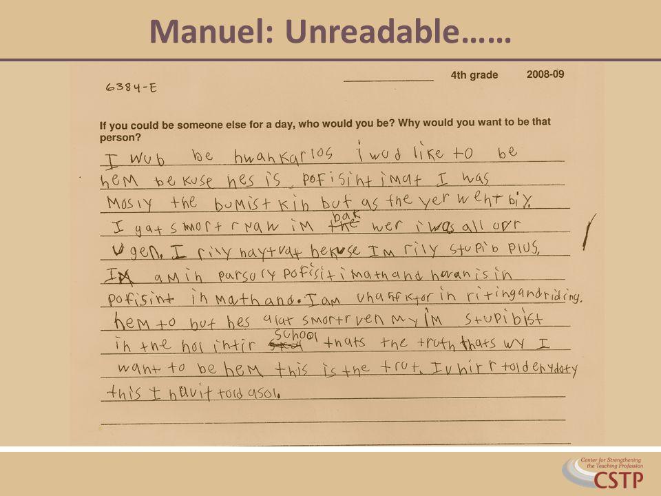 Manuel: Unreadable……
