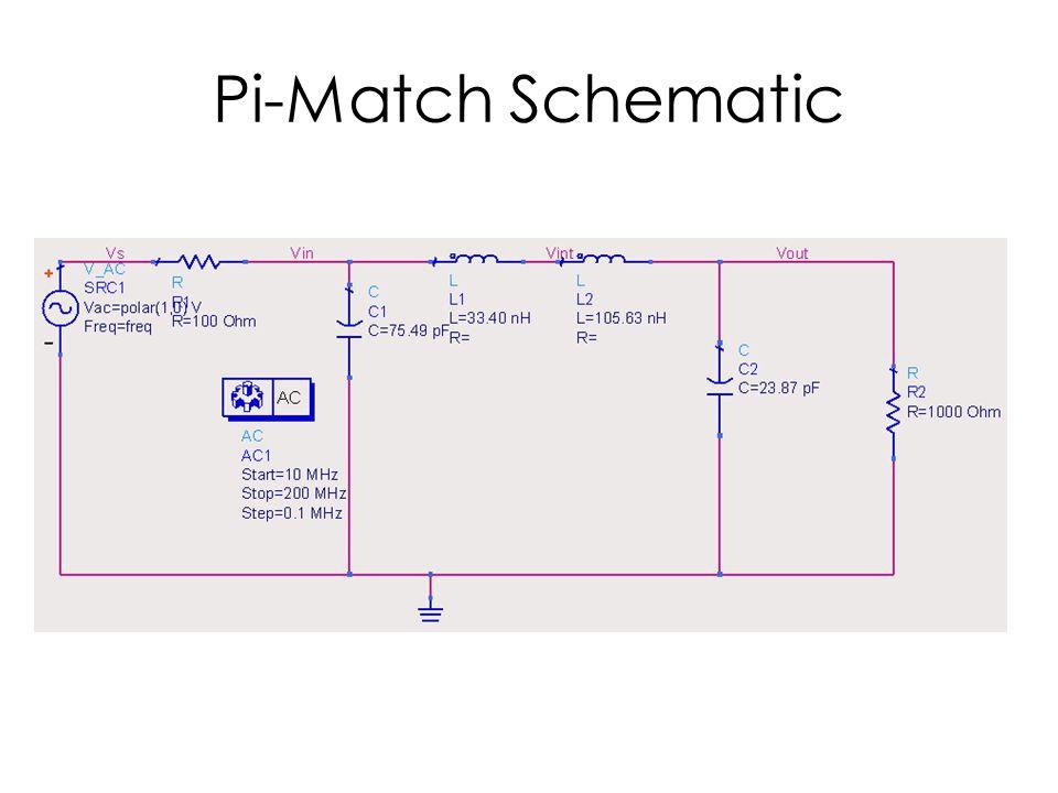 Pi-Match Schematic