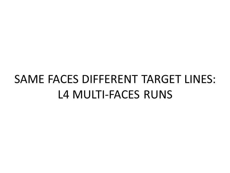 SAME FACES DIFFERENT TARGET LINES: L4 MULTI-FACES RUNS