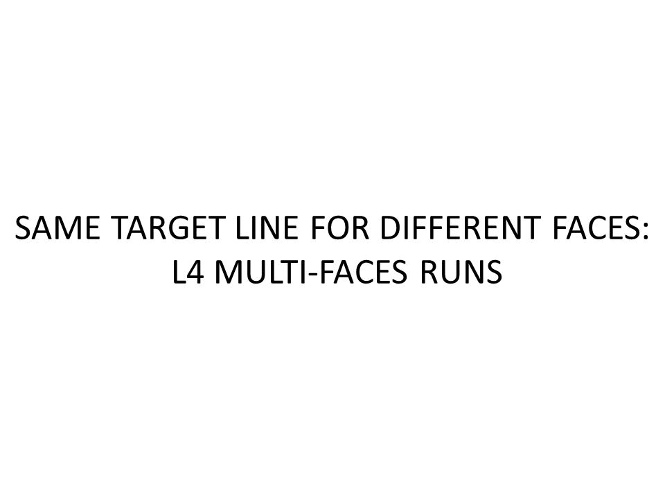 SAME TARGET LINE FOR DIFFERENT FACES: L4 MULTI-FACES RUNS