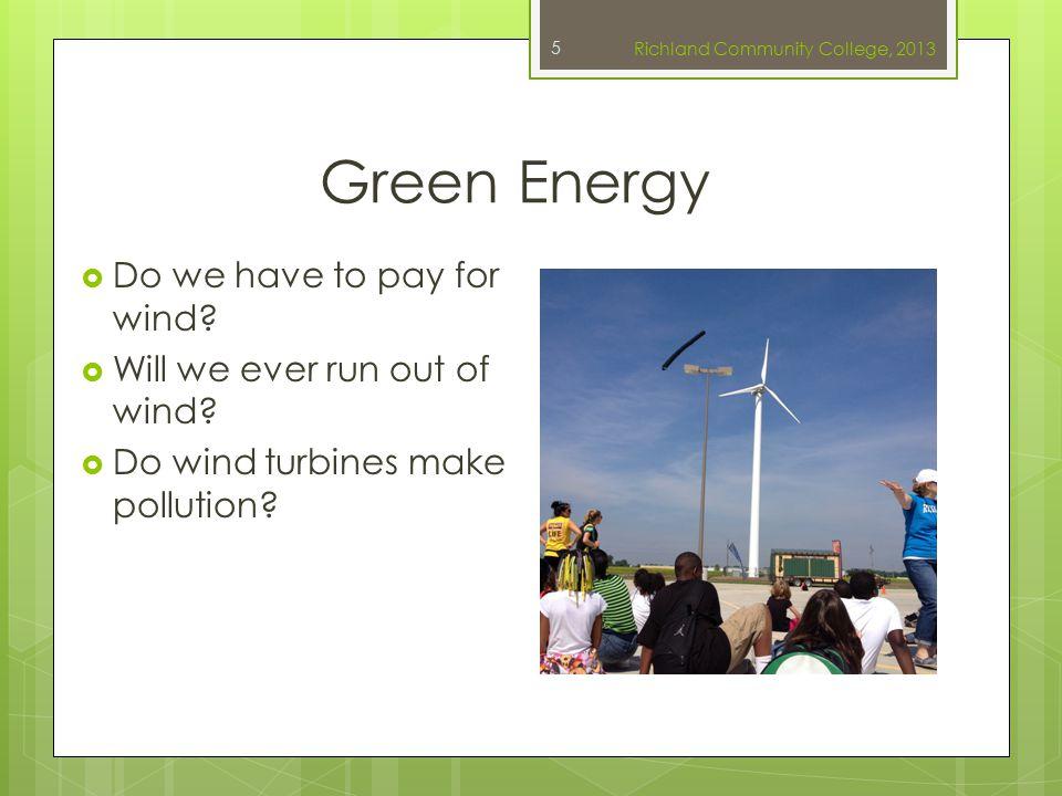 References  Slide 1: Richland Wind Turbine. Image.