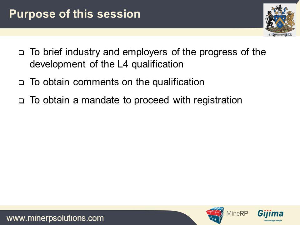 www.minerpsolutions.com  Members of the Industry Mine Planning Forum  Members of the MQA Steering Committee  ECSA  MQA organisation  Ben van As  SAIMM  MineRP Acknowledgements