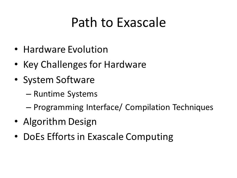Scope of DoE's Exascale Initiative