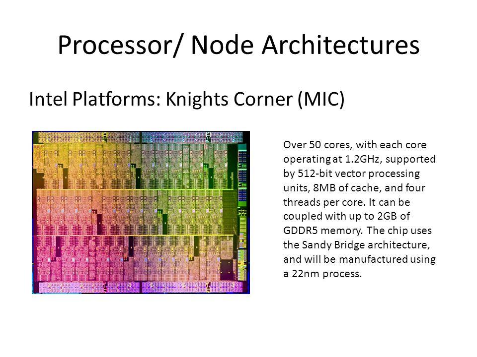 Heterogeneous Platforms: TianHe 1 14,336 Xeon X5670 processors and 7,168 Nvidia Tesla M2050 general purpose GPUs.XeonNvidia Teslageneral purpose GPUs Theoretical peak performance of 4.701 petaFLOPS 112 cabinets, 12 storage cabinets, 6 communications cabinets, and 8 I/O cabinets.