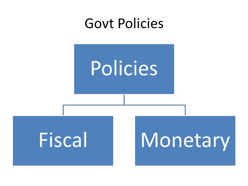 Govt Policies Policies FiscalMonetary