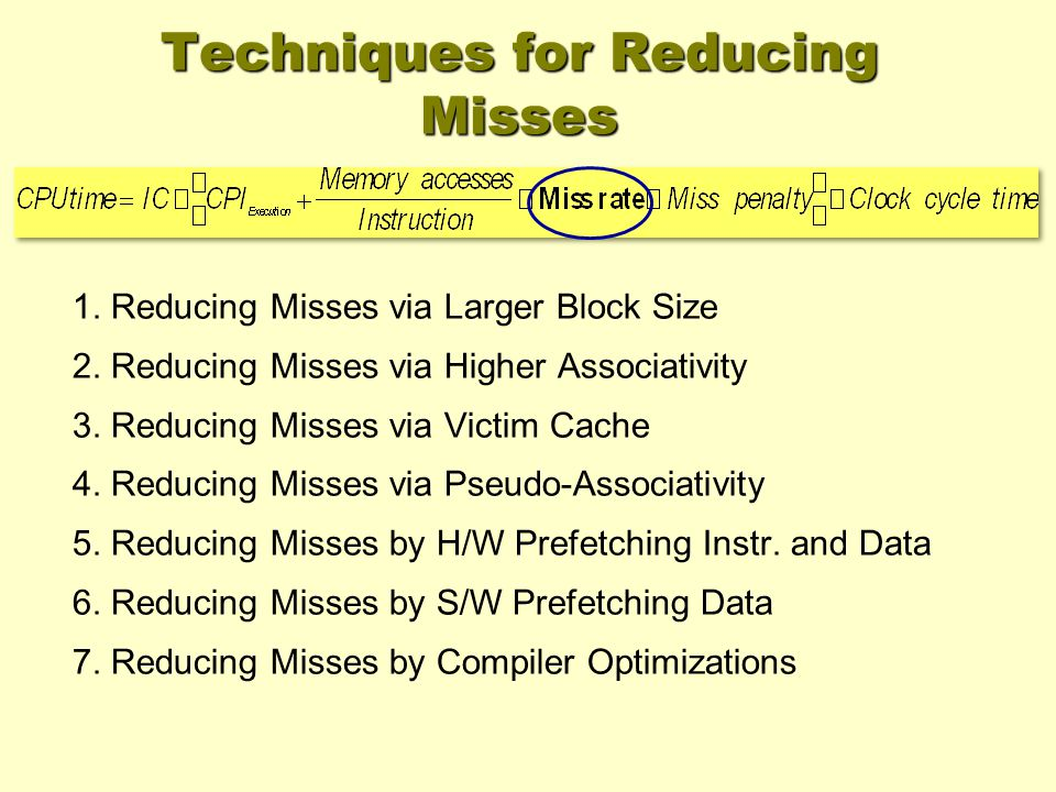 Techniques for Reducing Misses 1. Reducing Misses via Larger Block Size 2.