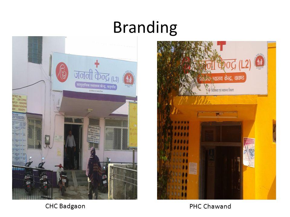 Branding CHC Badgaon PHC Chawand