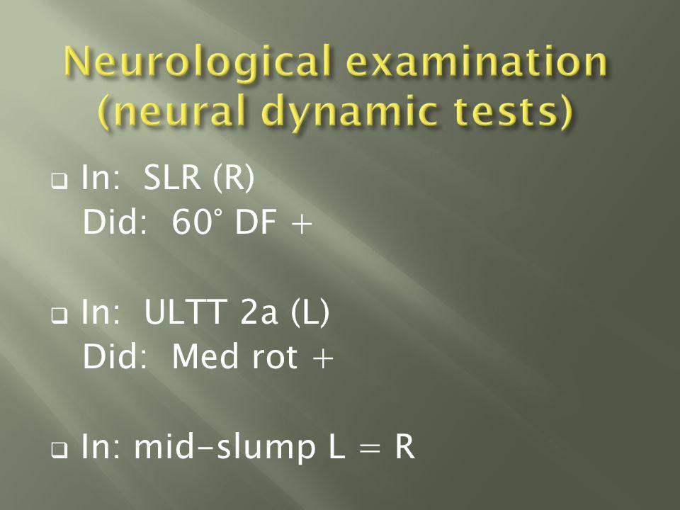  Thoracic spine: Flex √√ Low rotation √√  Sacro-iliac joint: Compression Grade II 3 / 10 Area 3  1 st rib longitudinal caudad Grade 1 6 / 10 Area 1