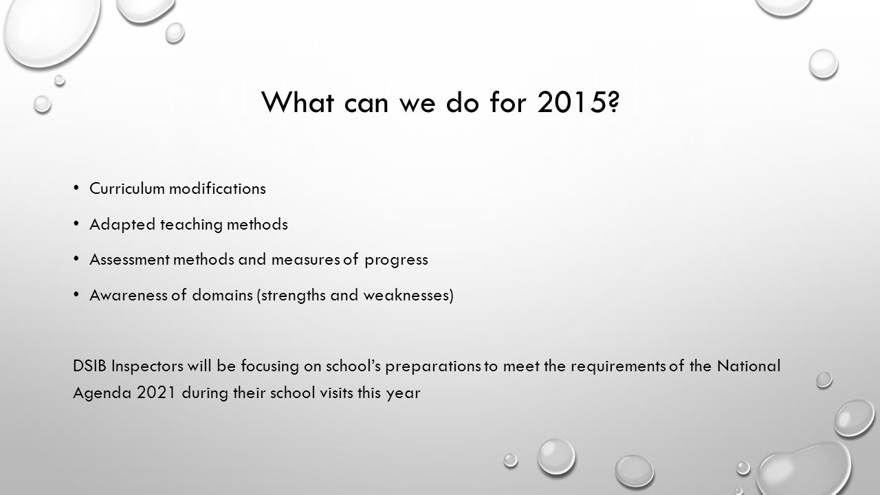 What can we do for 2015.