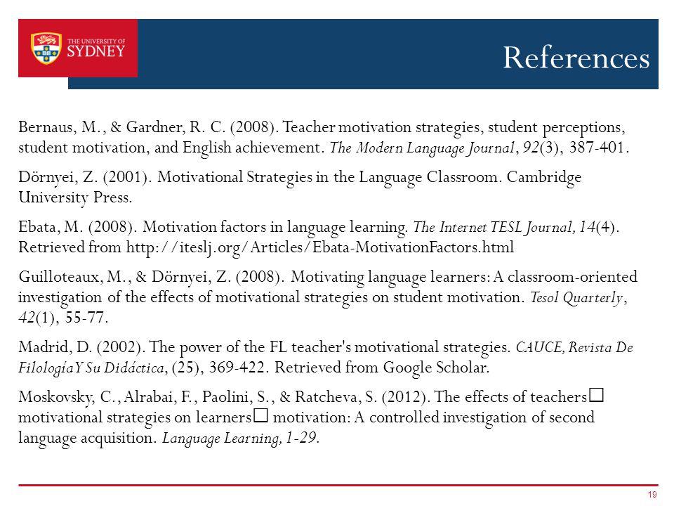 References Bernaus, M., & Gardner, R.C. (2008).