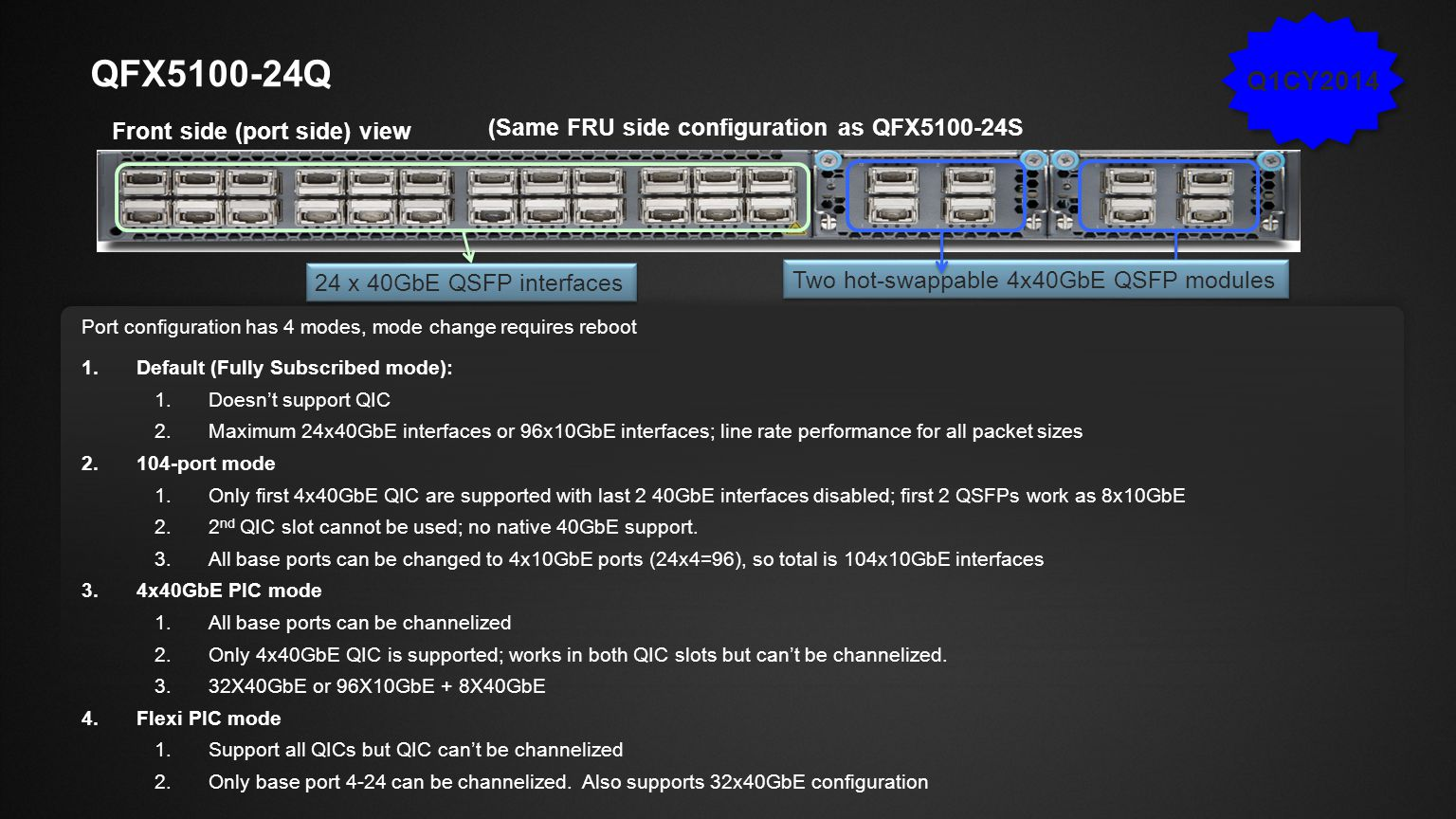 Slide Type Juniper Networks Large Venue Template / 16x9 / V6 ADVANCED JUNOS SOFTWARE ARCHITECTURE Provides the foundation for advanced functions ISSU (In-Service Software Upgrade).