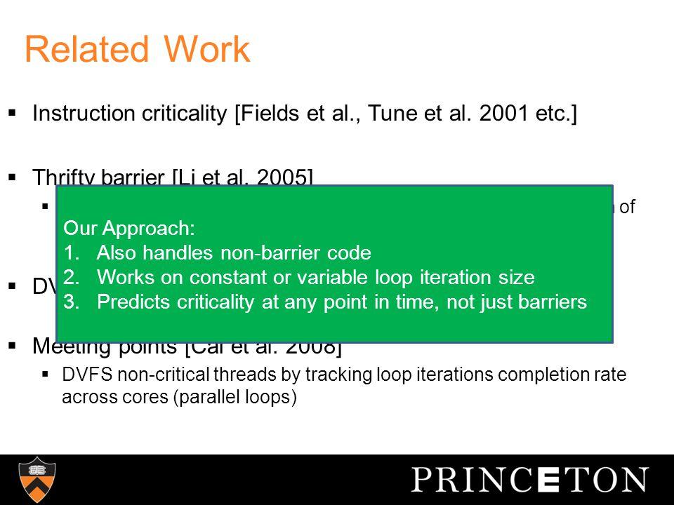 Thread Criticality Prediction Goals Design Goals 1.