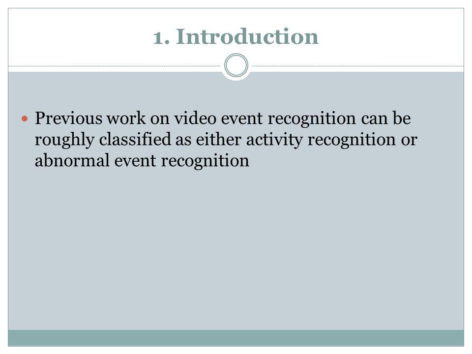 Model-based Abnormal event recognition - Zhang et al.