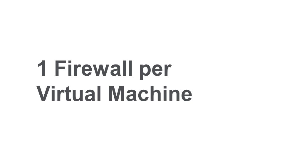 1 Firewall per Virtual Machine