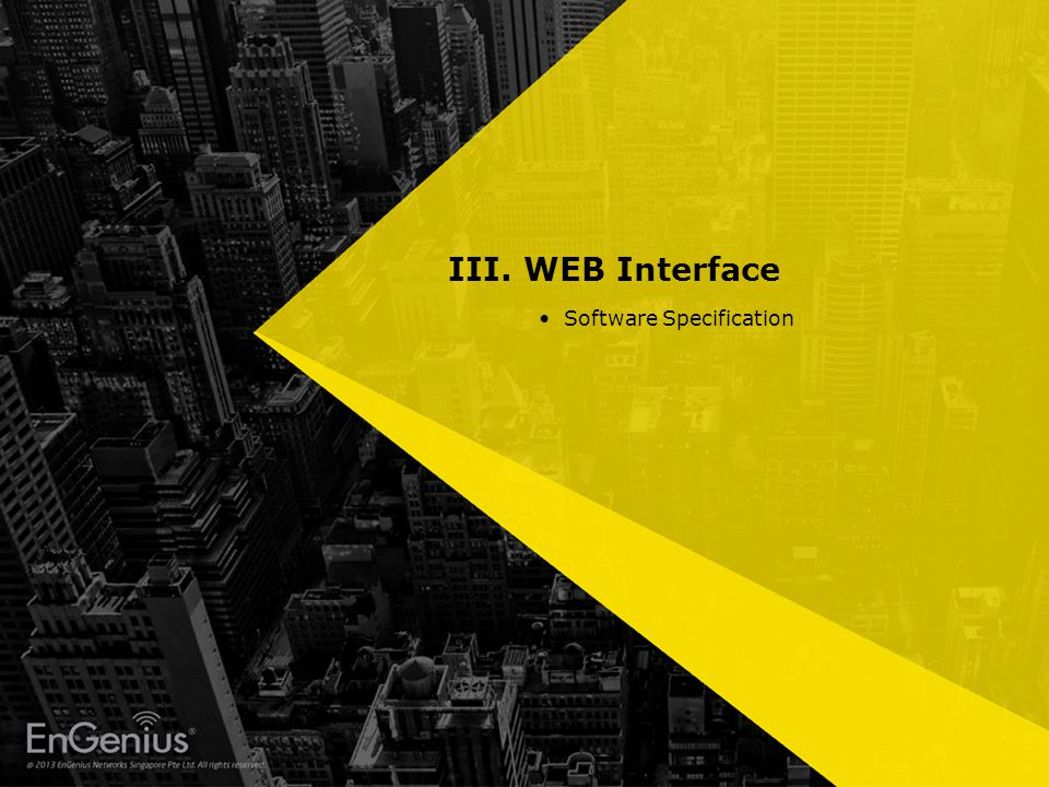 III. WEB Interface Software Specification