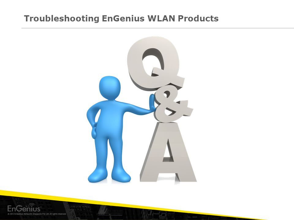 Troubleshooting EnGenius WLAN Products