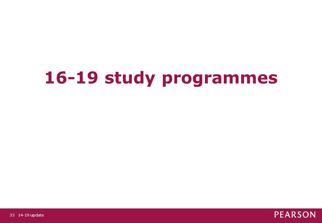 14-19 update33 16-19 study programmes