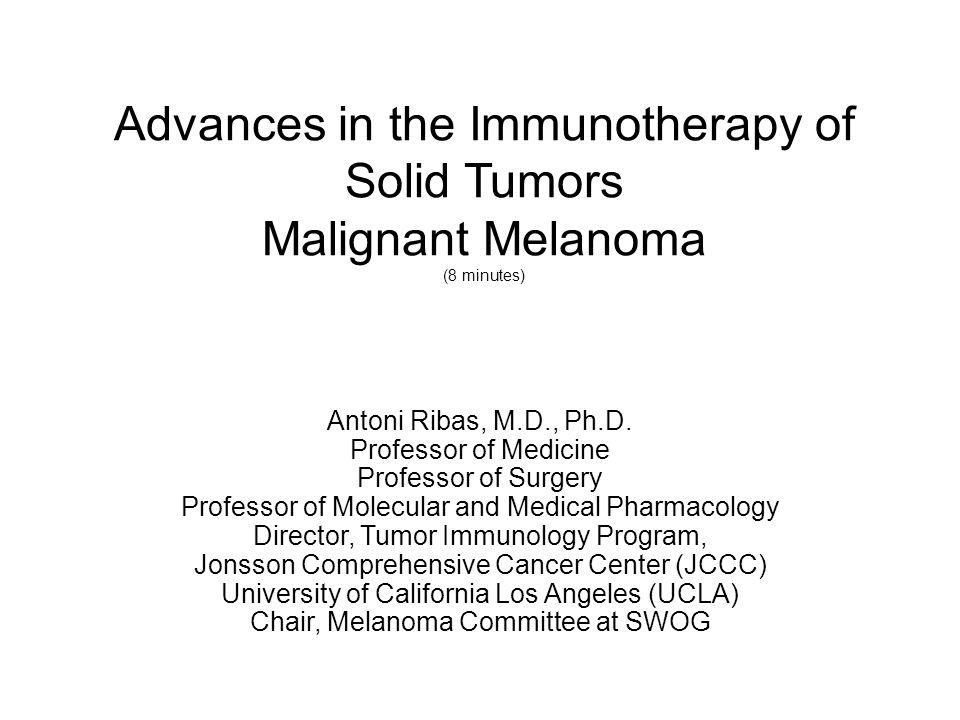 Ipilimumab (anti-CTLA4) in melanoma 3 mg/kg x 4 doses q3w10 mg/kg x 4 doses q3w, then q3mo + dacarbazine