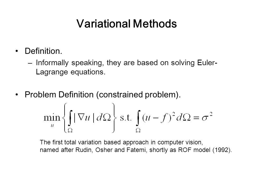 Variational Methods Definition.