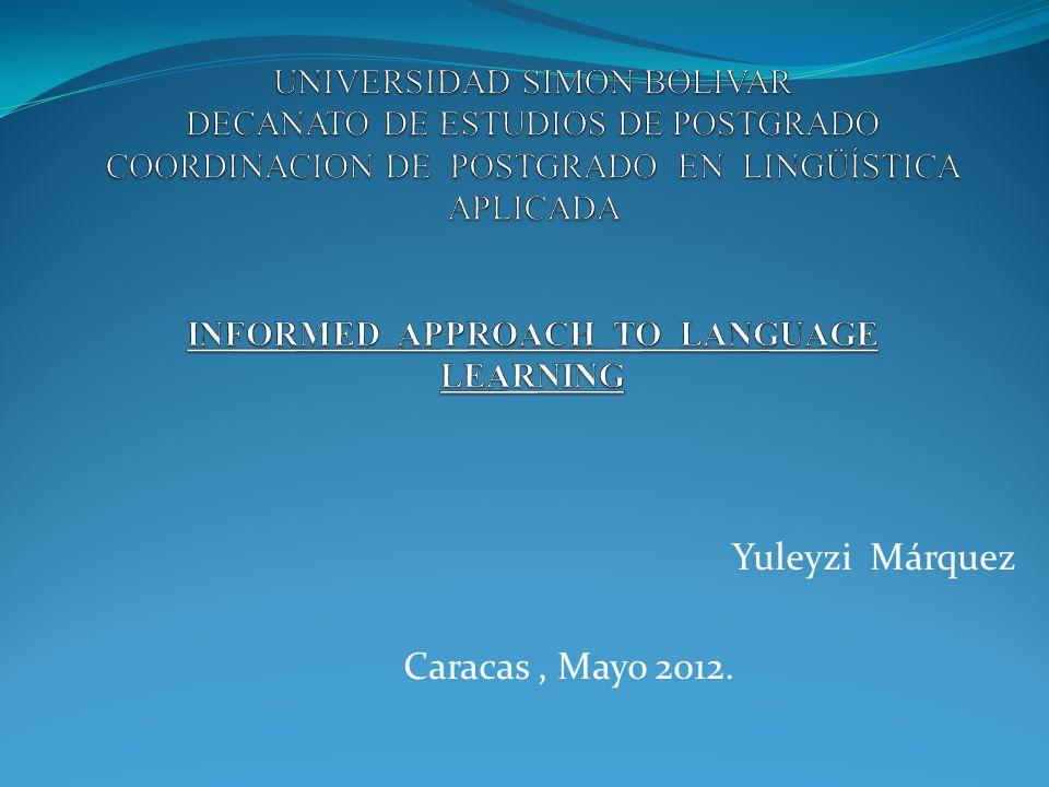 Yuleyzi Márquez Caracas, Mayo 2012.