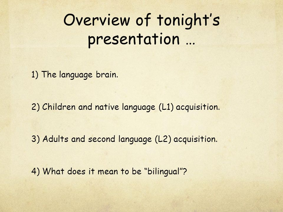 1) The language brain … ?.Is there one part of the brain that is dedicated to language.