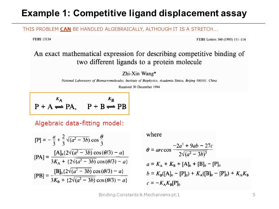 Binding Constants & Mechanisms pt.116 Statistical factors for multiple identical binding sites Bisswanger, H.