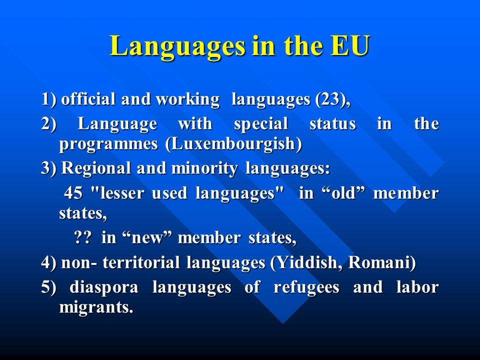 Negative factors forLatvian language maintenance Competition of languages that is unfavourable for the respective language.