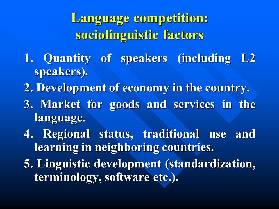 The most spoken languages...
