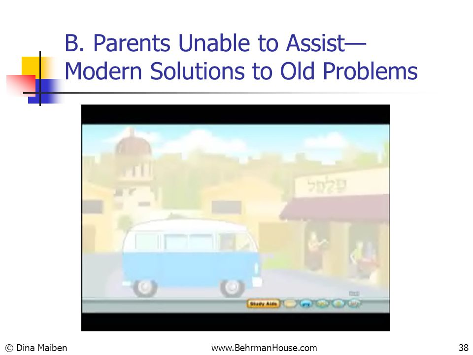 B. Parents Unable to Assist— Modern Solutions to Old Problems © Dina Maiben38www.BehrmanHouse.com