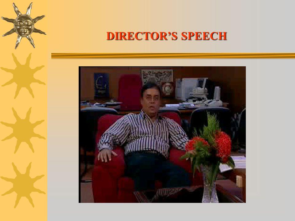DIRECTOR'S SPEECH
