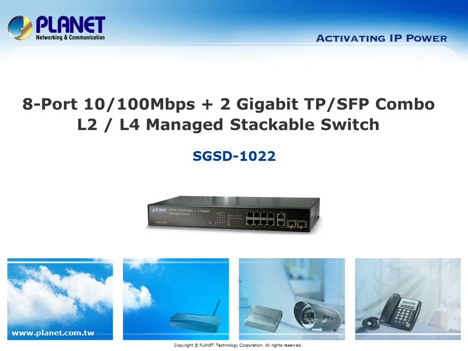 www.planet.com.tw 12 / 24 Product Features  Quality of Service Policy-Based DiffServ Voice Traffic QoS Traffic Classification 802.1p CoS IP TOS/DSCP/Precedence IP TCP/UDP port number  VLAN IEEE 802.1Q VLAN Protocol VLAN Private VLAN GVRP
