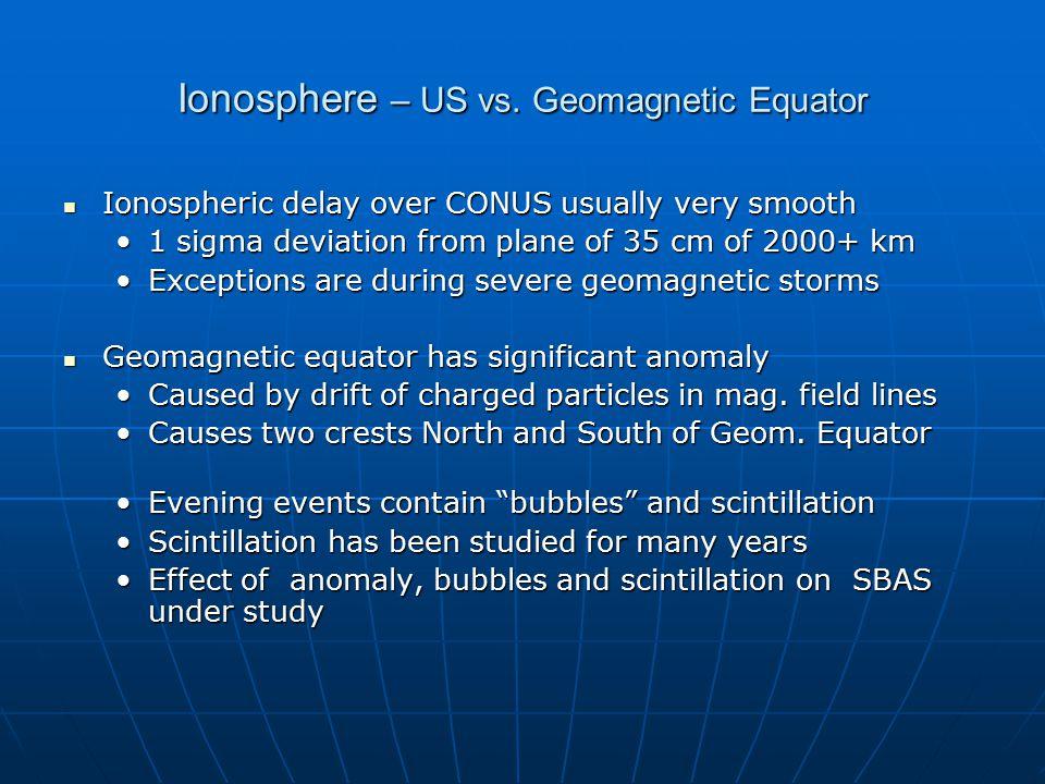 Ionosphere – US vs.