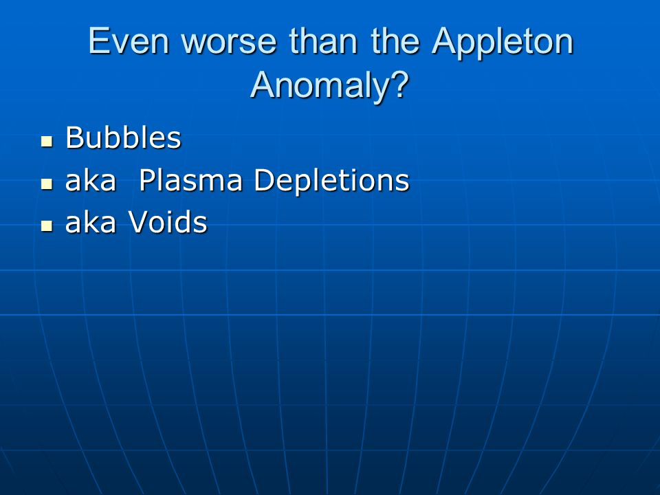 Even worse than the Appleton Anomaly.
