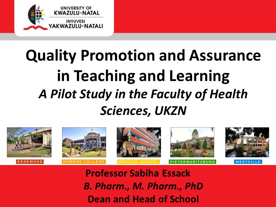 Professor Sabiha Essack B. Pharm., M.