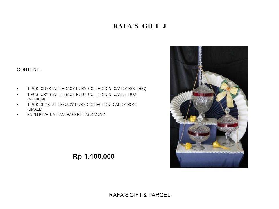RAFA'S GIFT & PARCEL RAFA'S GIFT J CONTENT : 1 PCS CRYSTAL LEGACY RUBY COLLECTION CANDY BOX (BIG) 1 PCS CRYSTAL LEGACY RUBY COLLECTION CANDY BOX (MEDI