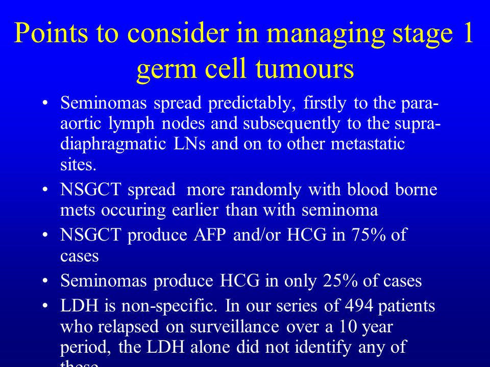 Can chemotherapy replace radiotherapy for stage 1 seminoma .