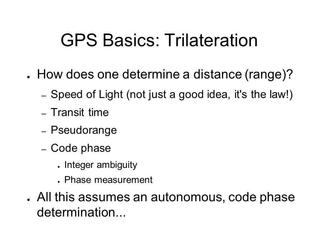 GPS Basics: Autonomous Positioning ● How does it work?