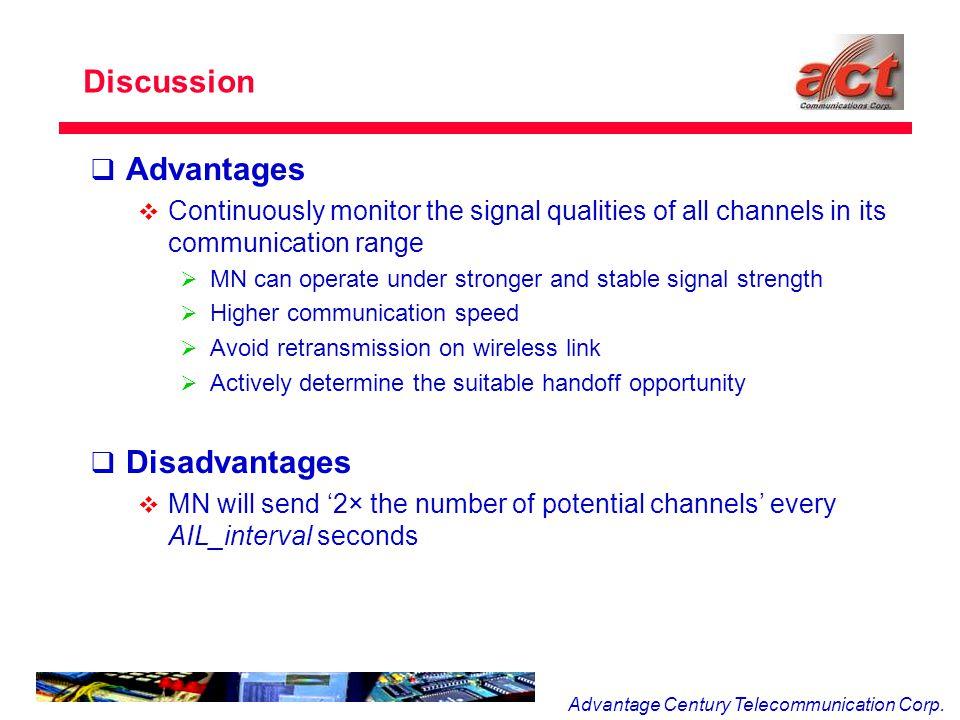 Advantage Century Telecommunication Corp.