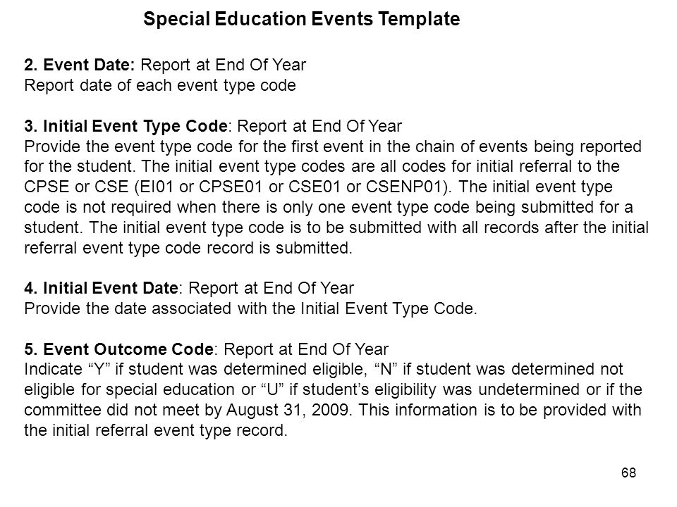 68 Special Education Events Template 2.