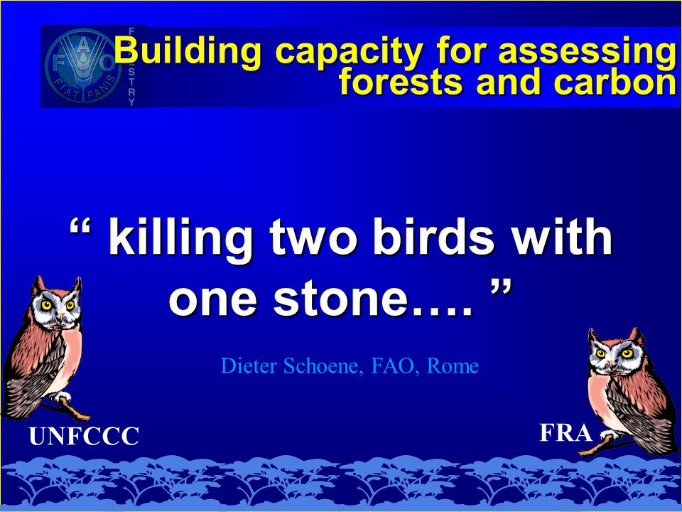 UNFCCC killing two birds with one stone….
