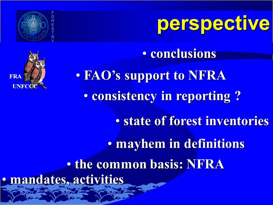 perspective mandates, activities mandates, activities the common basis: NFRA the common basis: NFRA state of forest inventories state of forest inventories consistency in reporting .