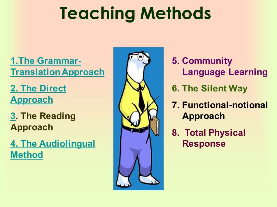 Teaching Methods 1.The Grammar- Translation Approach 2.