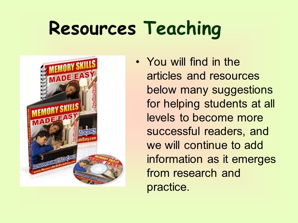 You will find in the articles and resources below many suggestions for helping students at all levels to become more successful readers, and we will continue to add information as it emerges from research and practice.