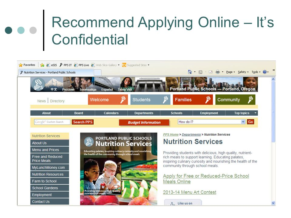 Recommend Applying Online – It's Confidential