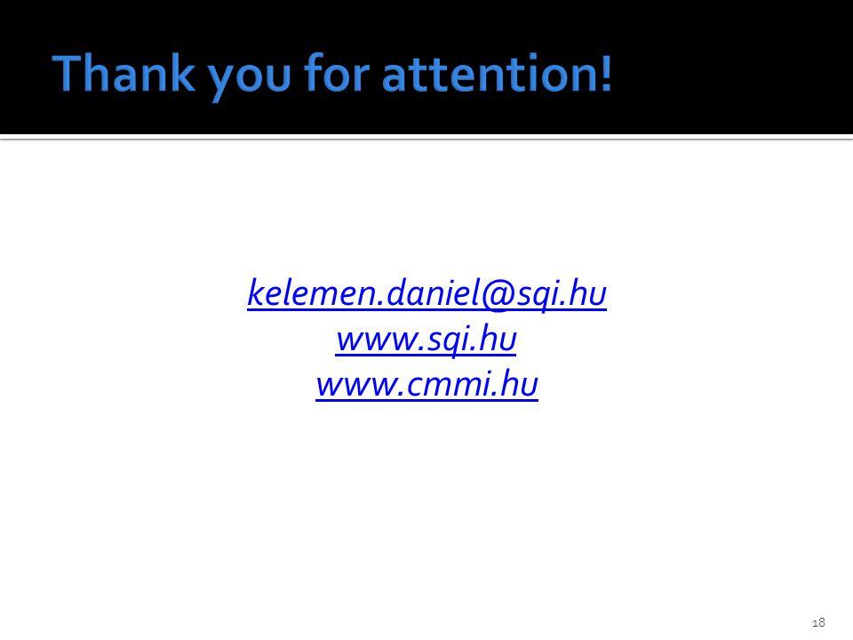 18 kelemen.daniel@sqi.hu www.sqi.hu www.cmmi.hu