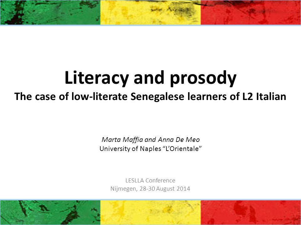 Conclusions The results of the spectroacoustic analysis indicate that there is a relationship between the model of literacy in the L1 and the development of oral skills in the L2.