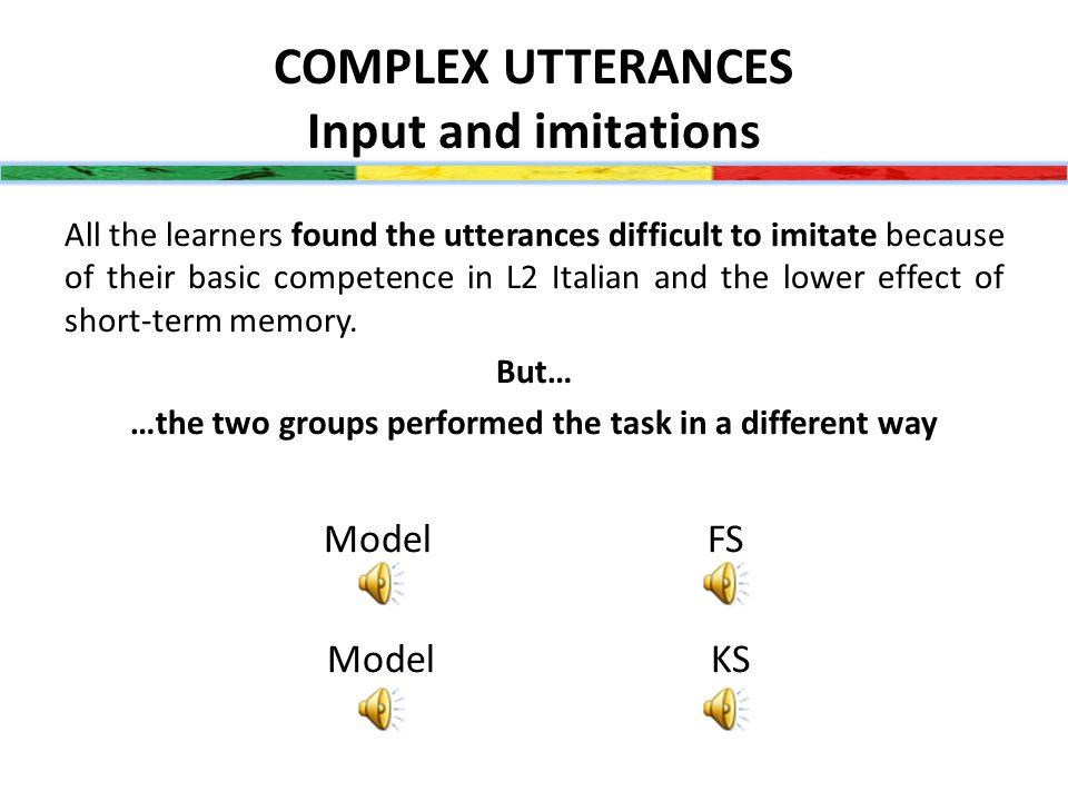 COMPLEX UTTERANCES (11-20 syll.)