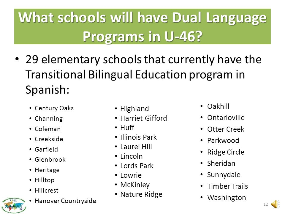What the research says – The Graph 11 1– Two-Way Dual Language Ed. including Content ESL 2– One-Way Dual Language Ed. including Content ESL 3– Transit