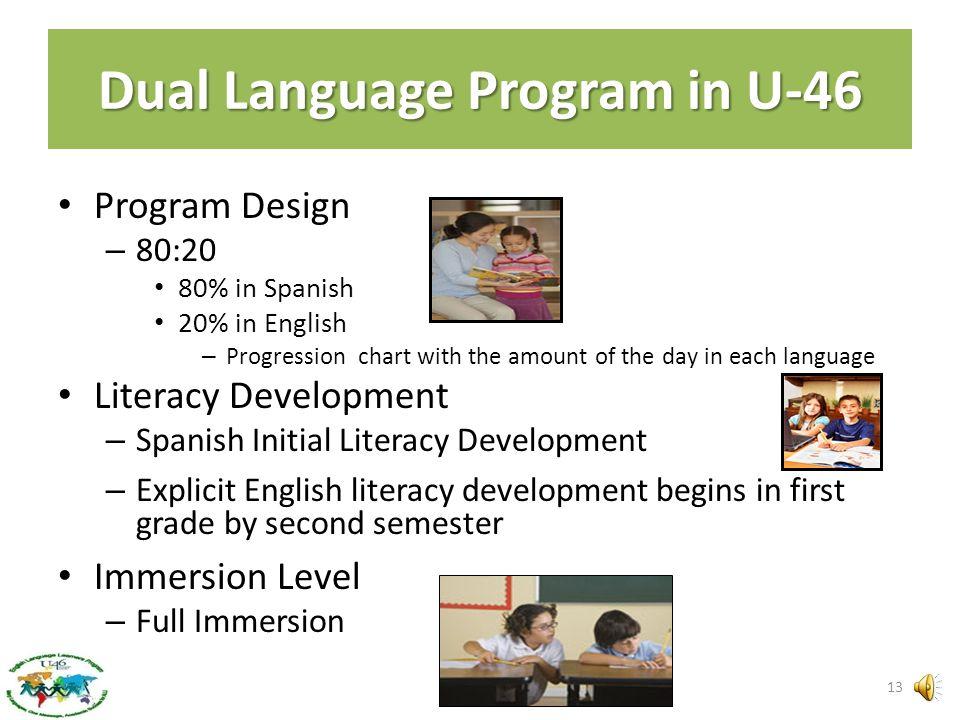 What schools will have Dual Language Programs in U-46? Century Oaks Channing Coleman Creekside Garfield Glenbrook Heritage Hilltop Hillcrest Hanover C
